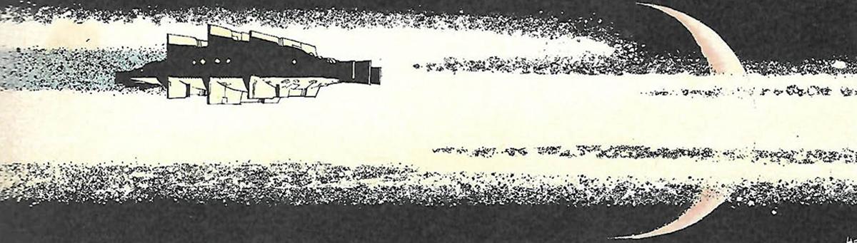 Esta ilustración de Metro Châtelet, dirección Casiopea, 1980, fue utilizada en diferentes ediciones en las guardas de los tomos