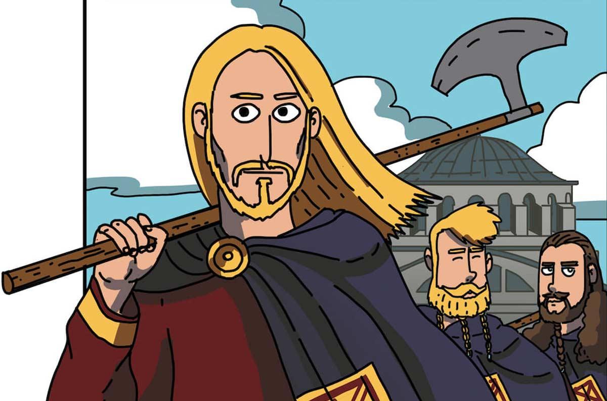 Harald Hardrada (Harald el Despiadado), protagonista de la obra (1015-1066)
