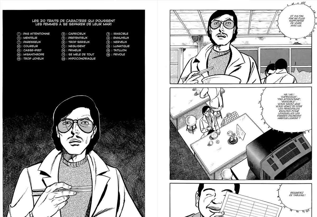 Kamimura incluye gráficas y estadísticas sobre las divorciadas durante toda la obra