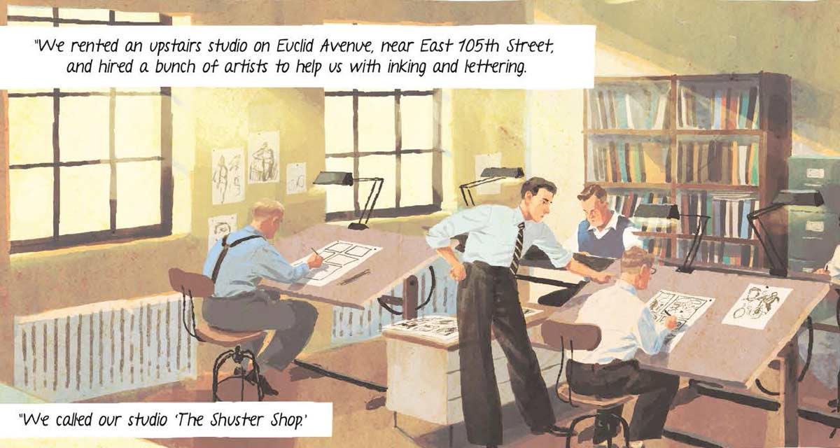Cuando Joe Shuster empezó a perder la vista tuvo que montar un equipo creativo