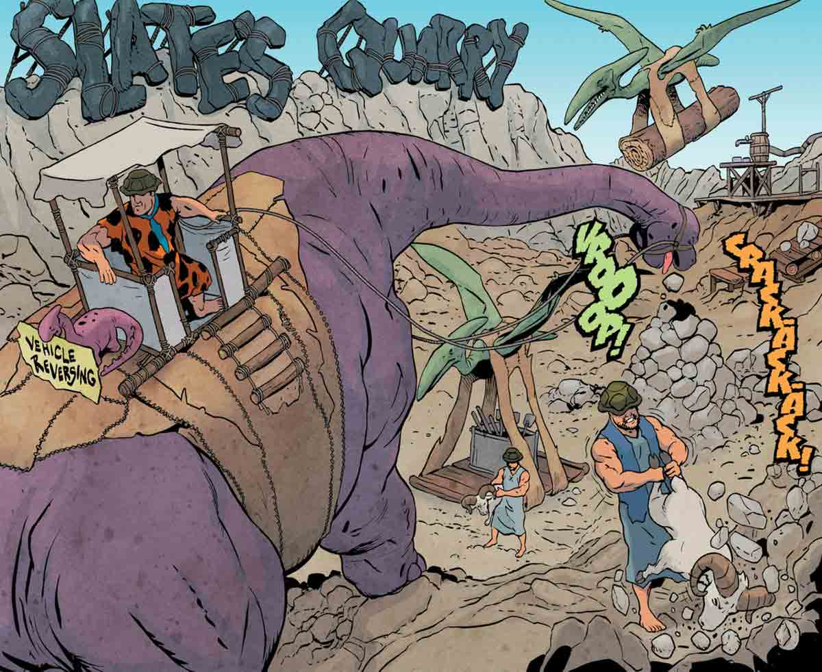 En este comic de 'The Flintstones', volvemos a ver a personajes de nuestra infancia