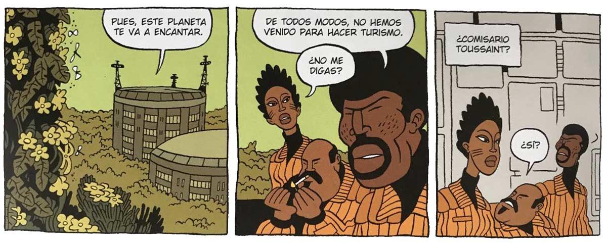 Langevin, Toussant y Eunice son los policias encargados de la invetigación en Biotopo