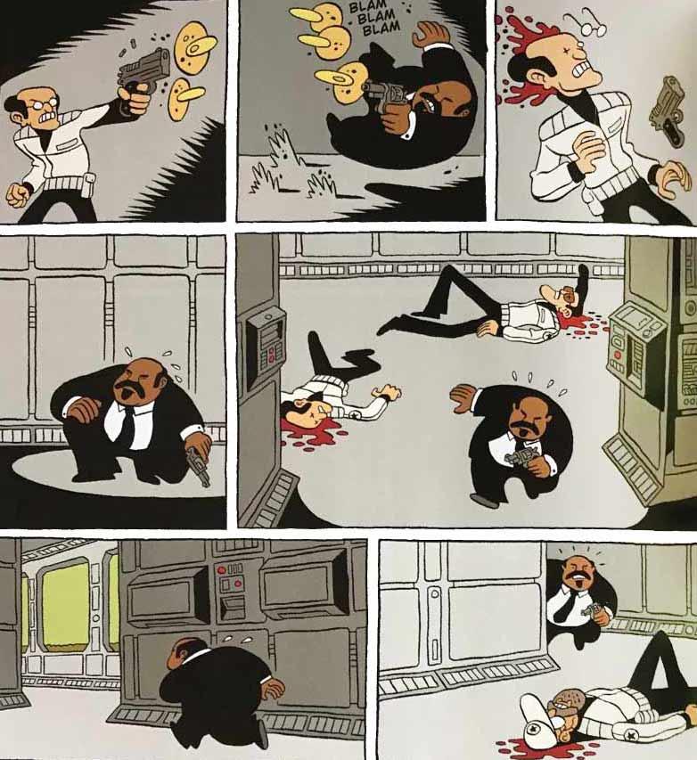Las viñetas de acción de Brüno tienen gran fluidez