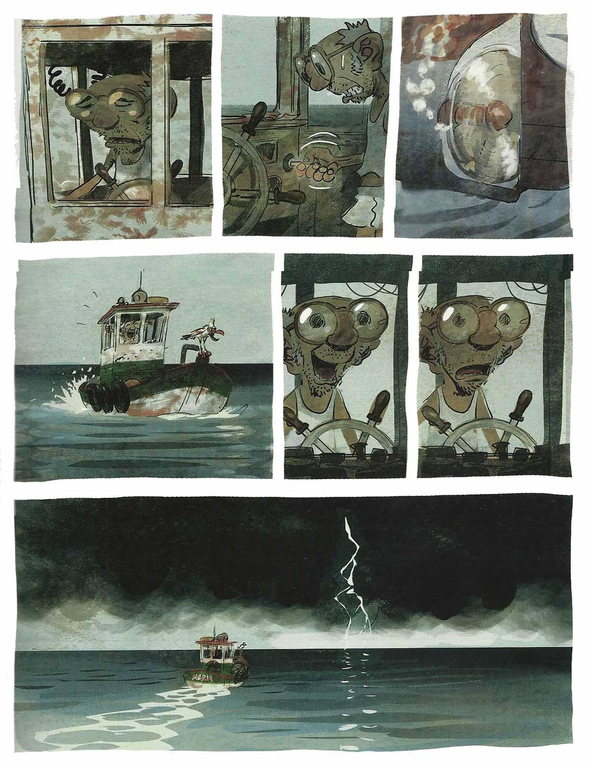 La relación de Monsieur y el mar es quien marca el tempo de la obra