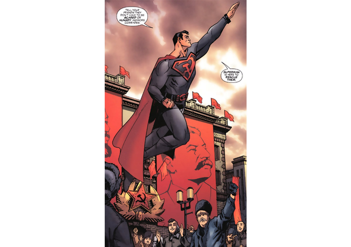 Un Superman comunista en todo su esplendor.
